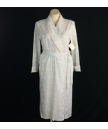 NEW Erika Taylor Large Ladies Robe White Pastel Blue Blush Pink Tulip Lo... - $24.95