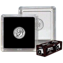 (75) BCW (2 x 2) COIN SNAPS - DIME - BLACK - $33.24