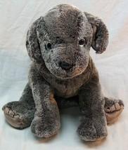 "TY Beanie Buddies SOFT GRAY FRISBEE PUPPY DOG 9"" Plush STUFFED ANIMAL To... - $19.80"