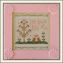 Let Love Bloom spring cross stitch chart Country Cottage Needleworks - $7.20