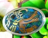 Vintage metales casados mexico sterling silver inlay brooch pendant thumb155 crop