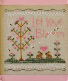 Let Love Bloom spring cross stitch chart Country Cottage Needleworks