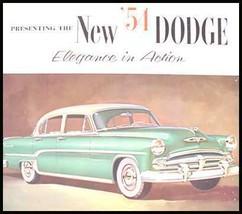 1954 Dodge Brochure Royal Coronet Convertible Wagon - $8.57