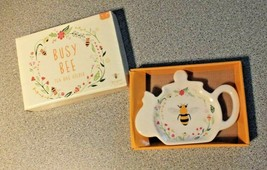 Busy Bee Tea Bag Holder Tea Bag Tidy Tea Bag Rest Porcelain Ceramic Boxe... - $9.04