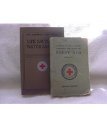 American Red Cross-2booklets-First Aid 1918-Life Saving & Water Safety 1973 - $15.00