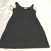Loft pleated  collar sleeveless swing dress size 4 p worn twice Graphite color - $20.35