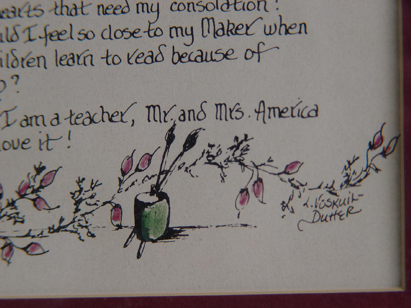 With Apologies to None- I am a Teacher Calligraphy Print