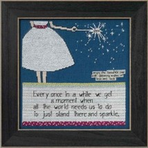 Sparkle Curly Girl 2014 Everyday Series cross stitch kit Mill Hill - $15.30
