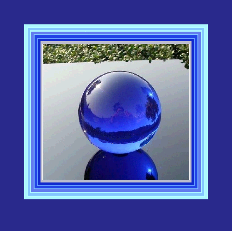New Age Rare Natural Quartz BLUE Magic Crystal Healing Orb w/ Stand