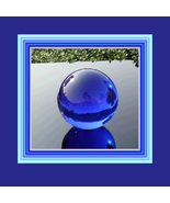 New Age Rare Natural Quartz BLUE Magic Crystal Healing Orb with Stand     - $21.95+