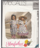 Childrens girls dress and jump suit Mouse Feathers Pattern McCalls 6967 CD 2,3,4 - $7.99