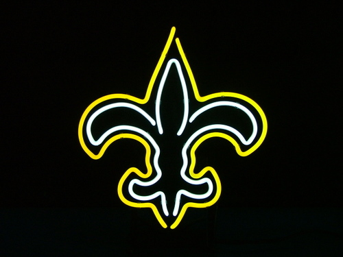 "Primary image for NFL New Orleans Saints Football Beer Bar Neon Light Sign 15"" x 14"""