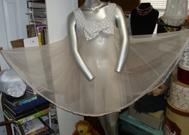 Come Play with Me in a True Vintage BABY DOLL NIGHTIE size Medium Huge S... - $59.99