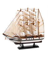PASSAT SHIP MODEL billowing sails and gleaming brass rails - $15.99