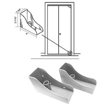 Closet Door Savers Bi-Fold Closet Door Pivot Pin Repair Kit - White - $25.69