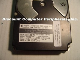 "IBM Apple DPES-31080 83G2550 1GB 3.5"" SCSI 50PIN Drive Tested Good Free USA Ship"