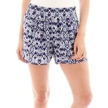 a.n.a Lightweight Beach Shorts Blue Ikat Blur Size XS New Msrp $26.00 - $11.99