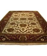 10 x 14 Beige Jaipur Wool Handmade Large Original Shah Abassi Area Rug - $1,017.60