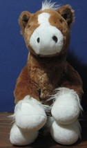 "Build a Bear Workshop Plush Brown and White Sitting Horse - 13"" - 2013 - $7.95"