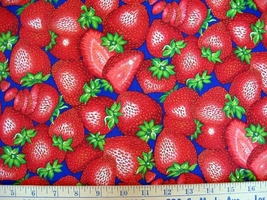 1 yard food/strawberry/fruit/berries quilt fabric - $6.99