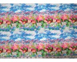 Floral pink on blue stripes thumb155 crop