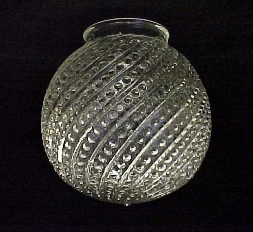 83392a bead and swirl clear glass ball light shade globe