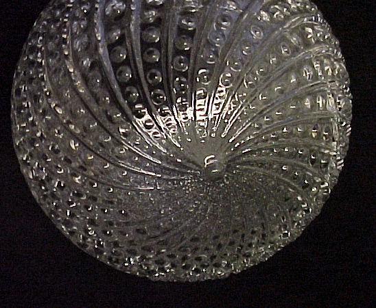 Clear Glass Bead Swirl 3 1/4 X 6 Ball Light Shade Globe Ceiling Fan