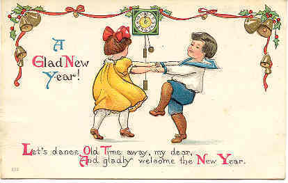 A Glad New Year 1914 Post Card