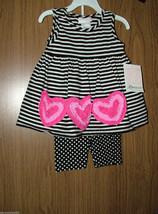 Bonnie Jean Baby Girl  Pink Hearts Appliques 2 Pc.Top & Shorts Set,Sz.18... - $19.99