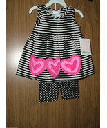 Bonnie Jean Baby Girl  Pink Hearts Appliques 2 Pc.Top & Shorts Set,Sz.18... - $19.99