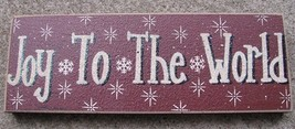 Primitive Wood Block 47142JW- Joy To the World   - €4,50 EUR