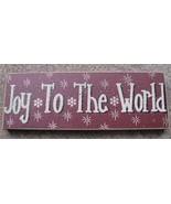 Primitive Wood Block 47142JW- Joy To the World   - $4.95