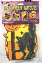 VINTAGE~BEISTLE~DOUBLE-SIDED~PAPER CARDBOARD~HALLOWEEN CUTOUTS~SEALED~MI... - £12.10 GBP