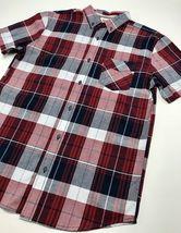 Men's Levi's Burgundy | Black | White Plaid S/S Button Down Shirt - $69.00
