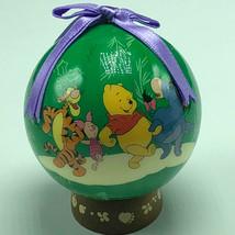 WINNIE POOH CHRISTMAS ORNAMENT Walt Disney figurine friends green dance ... - $14.80