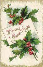 Xmas Greetings, 1910  Post Card - $5.00