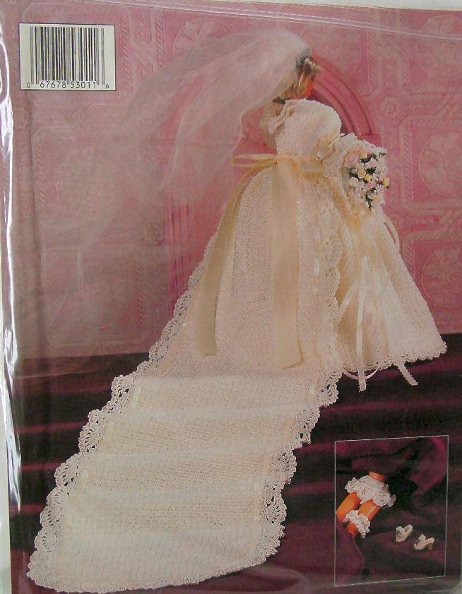 Barbie size Bride Dress Crochet Collector Costume Vol 4
