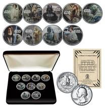 STAR WARS Genuine 1977 Washington Quarter 9-Coin Set w/BOX - OFFICIALLY ... - $56.06
