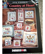 Country At Heart - Cross Stitch Graphs from Dimensions [Pamphlet] RUTH N... - $3.95