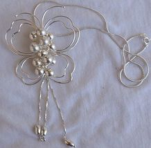 Silver butterfly necklace 3 thumb200