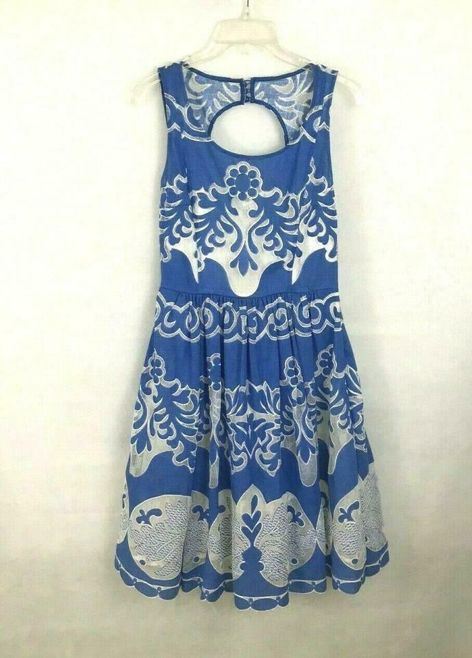 Anthropologie Azure Lace Dress Plenty by Tracy Reese Sz 0P image 10