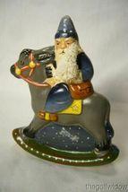 Vaillancourt Folk Art 30th Ann Starlight  Rocking Santa personally signed  Judi image 3