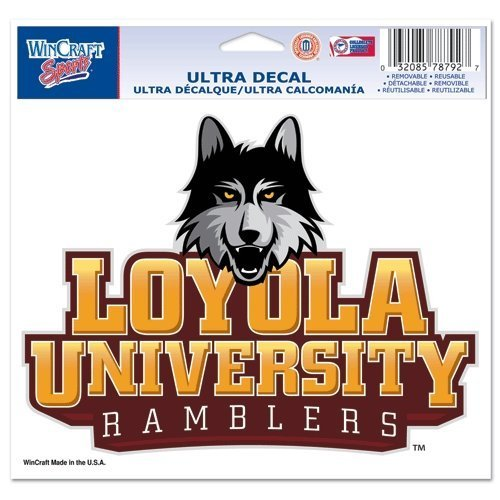 """Loyola Chicago Ramblers Official NCAA 4.5""""x6"""" Car Window Cling Decal by Wincraft - $8.18"""