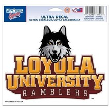 """Loyola Chicago Ramblers Official NCAA 4.5""""x6"""" Car Window Cling Decal by ... - $8.18"""