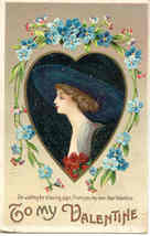To My Valentine Ellen Clapsaddle Post Card - $7.00
