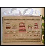 Party Cakes birthday cross stitch chart Country Cottage Needleworks - $7.20
