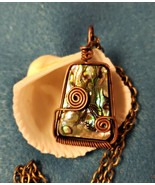 Copper Wired Stone with Abalone Accent - $20.00