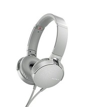 New SONY MDR-XB550AP EXTRA BASS Headphone Grayish White With Tracking Fr... - $82.56 CAD