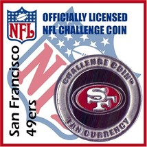 San Francisco 49ers NFL Football Helmet Challenge Coin Poker Card Guard [Misc.] - $10.42