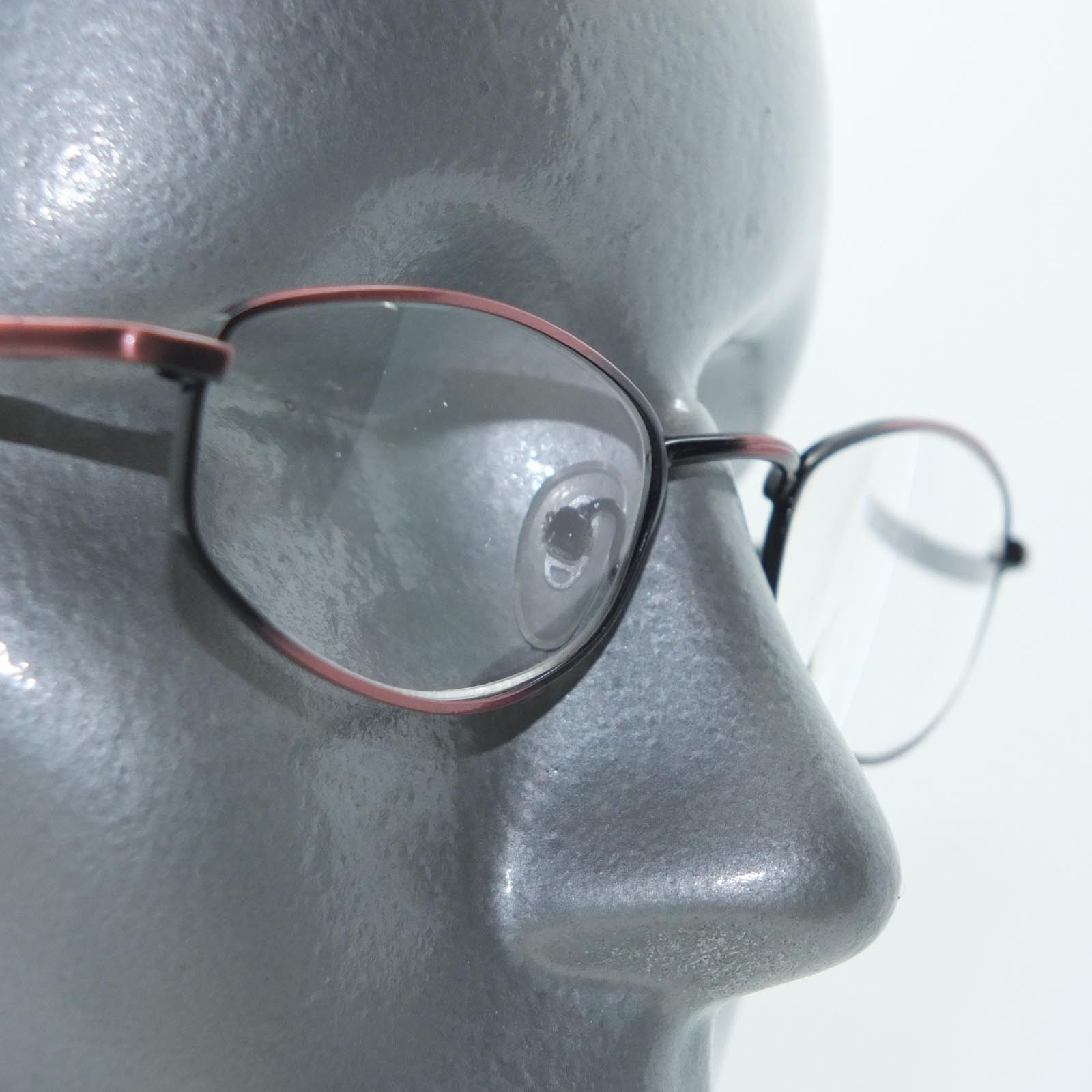Primary image for Reading Glasses Bronze Metal Oval Octagon Narrow Hip +3.00 Lens Strength